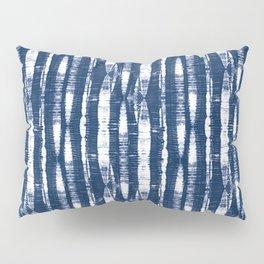 Shibori Stripes Indigo Blue Pillow Sham