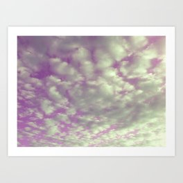 Kinda Cloudy Art Print