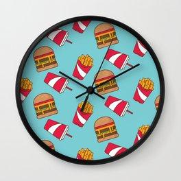Food Junkie II Wall Clock