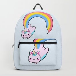 Kawaii proud rainbow cattycorn Backpack