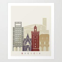 Brescia skyline poster Art Print