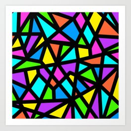 Rainbow Stained Glass Art Print