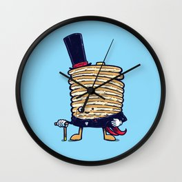 Fancy Captain Pancake Wall Clock