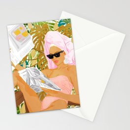 Vacay News #illustration #painting Stationery Cards