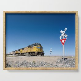 Caution (Do Not Stop On Tracks) Serving Tray