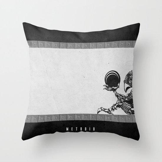 Metroid - The Chozo Geek Line Artly Throw Pillow