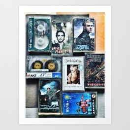 Old cassettes Art Print