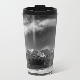 Rocky Mountan Park in Black and White Travel Mug