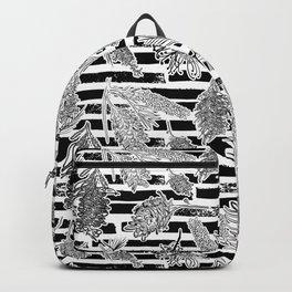 Beautiful Black and White Australiana Print Backpack