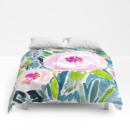 Ballerina Blow Out Floral Comforters