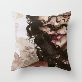 in her crimes Throw Pillow