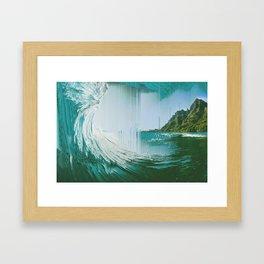 Pixel Sort composition Framed Art Print