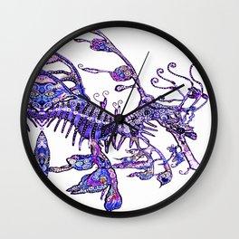 Leafy Seadragon II original illustration by Sheridon Rayment. Wall Clock