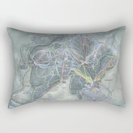 Killington Resort Trail Map Rectangular Pillow