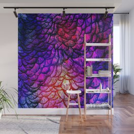 Preening Peacock Cotton Candy Wall Mural