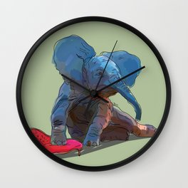 animals in chairs #25 The Elephant Wall Clock