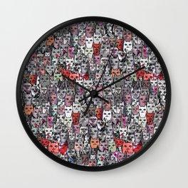 Halloween Kitties Wall Clock