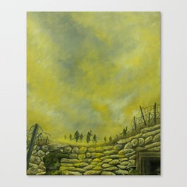 Gas Clouds at Ypres Canvas Print