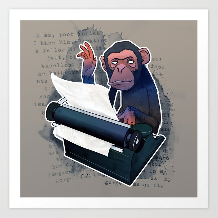 Infinite Monkey Theory Art Print