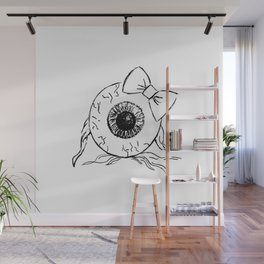 Eyeball Lady Wall Mural