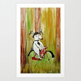 easy bunny Art Print