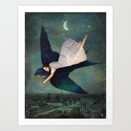 fly me to paris Art Print