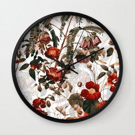Vintage Garden III Wall Clock