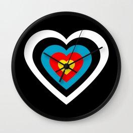 Love archery Wall Clock