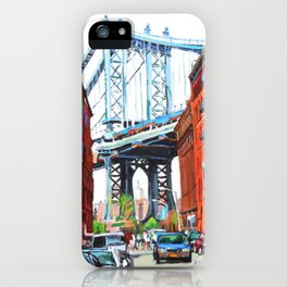 Manhattan Bridge, View From Dumbo Brooklyn iPhone Case