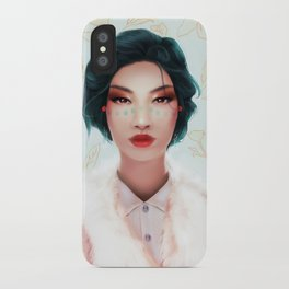 Red lips iPhone Case