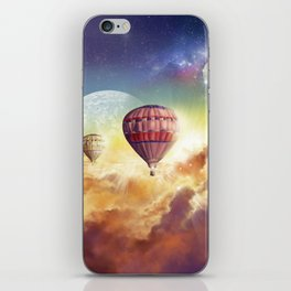 clouds,sky and ballons iPhone Skin