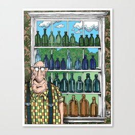 Walter's Bottle Collection Canvas Print