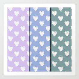 3x4 pastel Amor Art Print