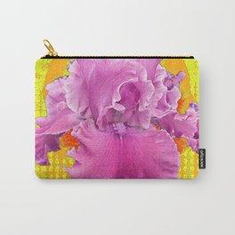 PINK FRILLY GARDEN IRIS YELLOW ART Carry-All Pouch