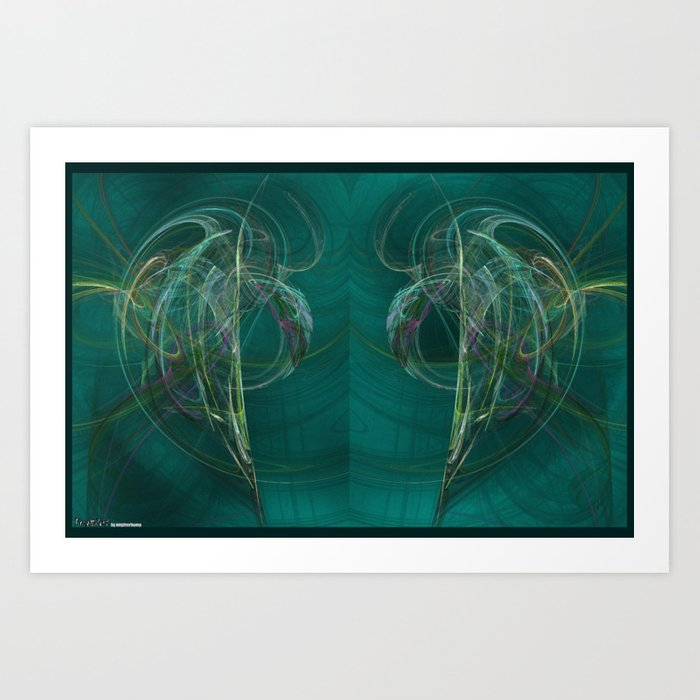 Frakblot Dolphin Art Print