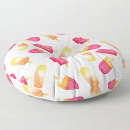 watercolor popsicle pattern Floor Pillow