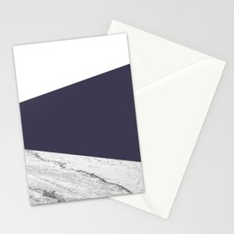 Marble Eclipse blue Geometry Stationery Cards