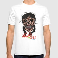 Skull-N-Bows Mens Fitted Tee White MEDIUM