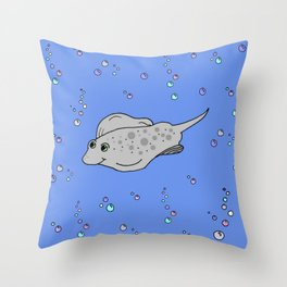 Little stingray Throw Pillow