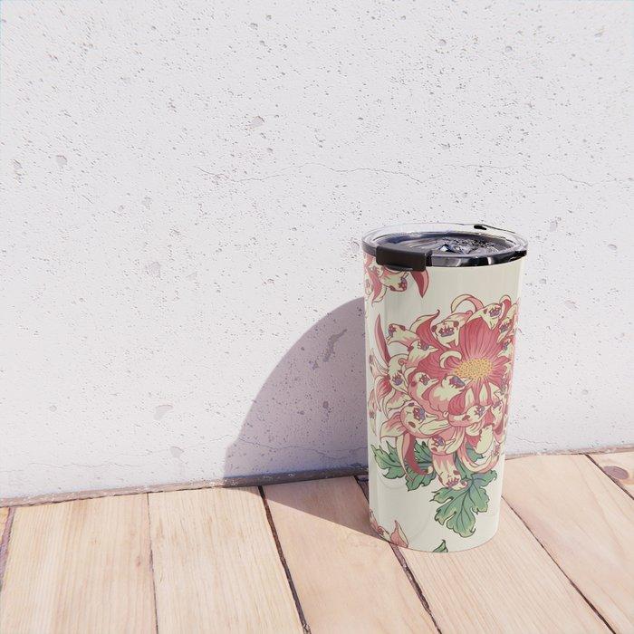 The Chrysanthemum of Pugs Travel Mug