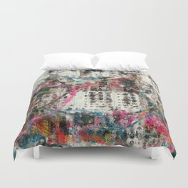 Analog Synthesizer, Abstract painting / illustration Duvet Cover