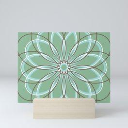 Green Retro Geometric Flower - c13271.6 Mini Art Print