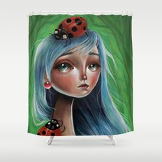 The Lady Bug Shower Curtain