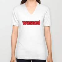 wasted rita V-neck T-shirts featuring Wasted by TxzDesign