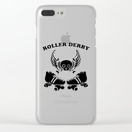 Roller Derby Wings Clear iPhone Case