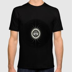 Golden Space Black Mens Fitted Tee MEDIUM