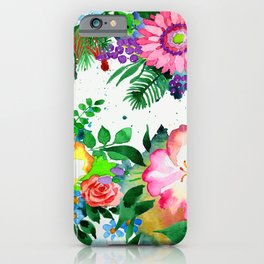 Vibrant and Cheerful Floral Pattern in Pink iPhone Case