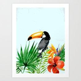 Tropical pattern 2 Art Print