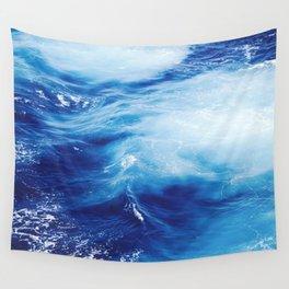 Blue Ocean Water Waves Wall Tapestry