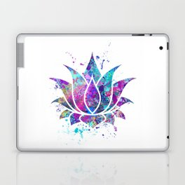 Lotus Flower Watercolor Print Wall Art Wedding Gift Zen decor Laptop & iPad Skin